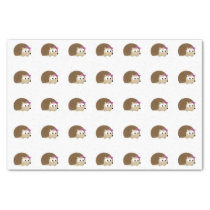 Cute Girl Hedgehog Tissue Paper