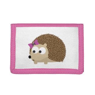 Cute Girl Hedgehog Trifold Wallet