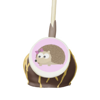 cute Girl hedgehog Cake Pops