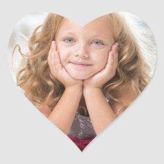 Cute Girl image Heart Sticker