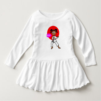 Cute Girl Karate Master Dress