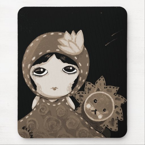 Cute Girl - Leopold Won't Give Up Mouse Pads