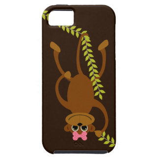 Cute Girl Monkey with Pink Bow on Swinging Vine iPhone SE/5/5s Case