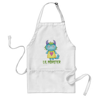 cute girl monster adult apron