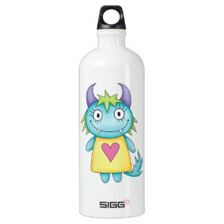 cute girl monster aluminum water bottle