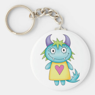cute girl monster keychains