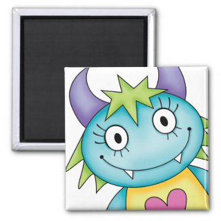 cute girl monster magnet