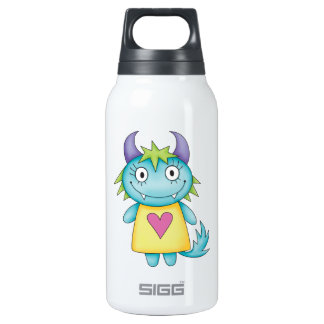 cute girl monster thermos water bottle