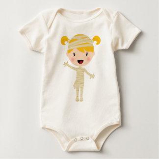 Cute Girl Mummy Halloween Costume Baby Bodysuit