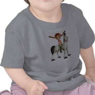 Cute Girl on a Happy Horse Tees