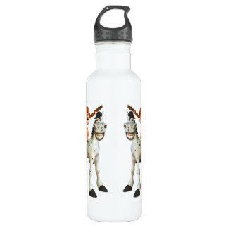 Cute Girl on Happy Horse 24oz Water Bottle