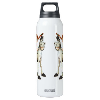 Cute Girl on Happy Horse 16 Oz Insulated SIGG Thermos Water Bottle
