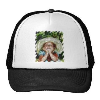 Cute Girl Outdoor Painting Trucker Hat