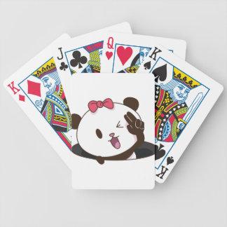 Cute girl panda OK! Bicycle Playing Cards
