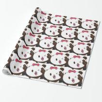 Cute girl panda OK! Wrapping Paper