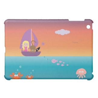 Cute Girl Pets At Sea In A Sailing Boat Pretty Case For The iPad Mini