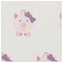 Cute Girl Pig Fabric