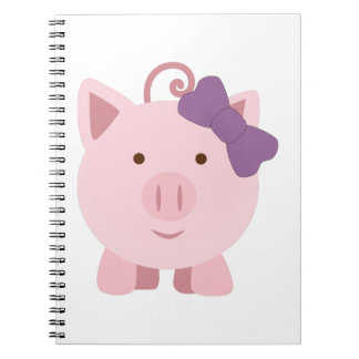 Cute Girl Pig Notebook