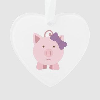 cute girl pig ornament