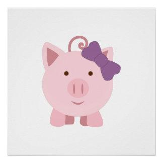 Cute Girl Pig Poster