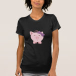 Cute Girl Pig T Shirts