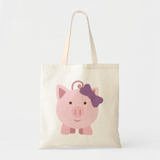 Cute Girl Pig Tote Bag