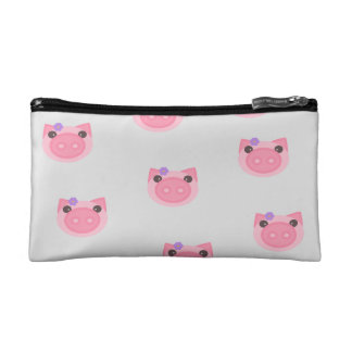 Cute girl piggy pig pink pouch / cosmetic bag