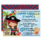 Cute Girl Pirate Birthday Invitations