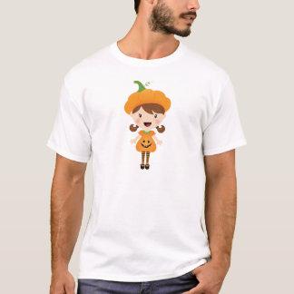 Cute Girl Pumpkin Halloween Costume T-Shirt