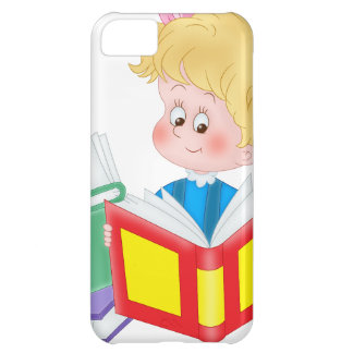 cute girl reading case for iPhone 5C