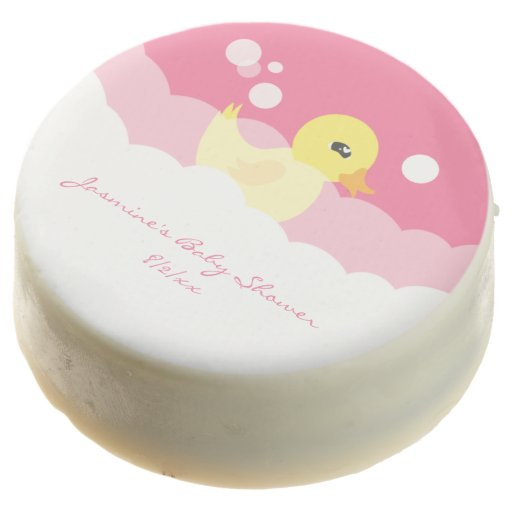 Cute girl rubber ducky baby shower chocolate covered oreo zazzle
