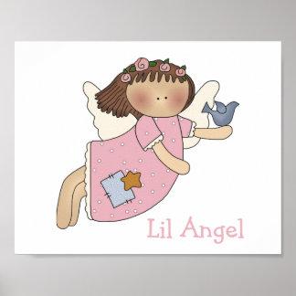 Cute Girl s Angel Print