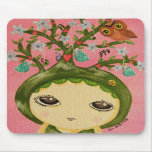 Cute Girl - She Grows A Tree Mouse Mats