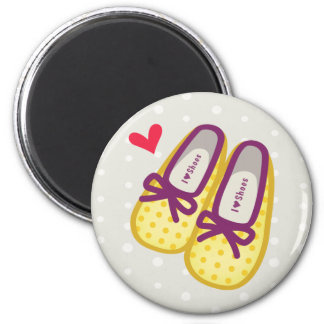 Cute Girl Shoes 2 Inch Round Magnet