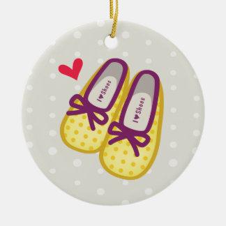 Cute Girl Shoes Ceramic Ornament