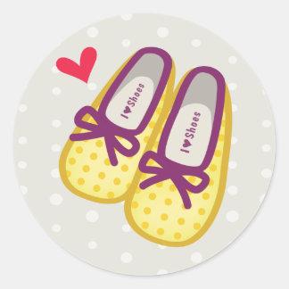 Cute Girl Shoes Classic Round Sticker
