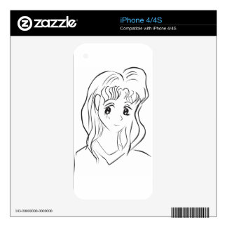 Cute Girl Skin For The iPhone 4
