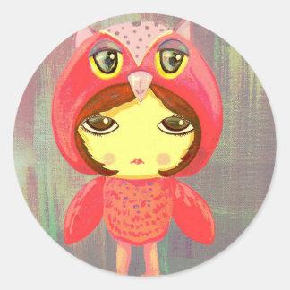 Cute Girl - Sonia 2047 Classic Round Sticker