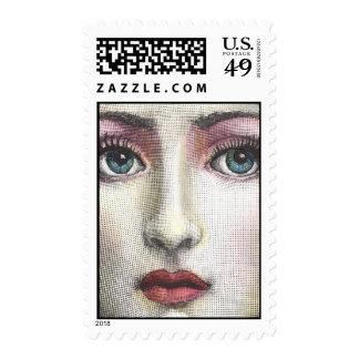 Cute girl stamp
