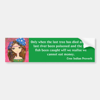Cute Girl - The Forest Guardian Bumper Stickers