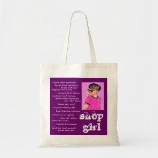 Cute Girl Tote Bag