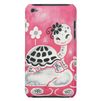 Cute Girl Turtle With Flowers & Swirls (4th gen.) iPod Touch Cover