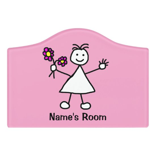 Cute Girl with Flowers Sign