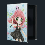 "Cute girl with kawaii octopus and fish iPad cover<br><div class=""desc"">This design features a cute anime chibi girl with kawaii octopus and fish under the sea. Illustration by Dao Thuy Duong.</div>"
