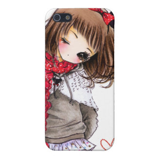Cute girl with Mickey ears iPhone SE/5/5s Case