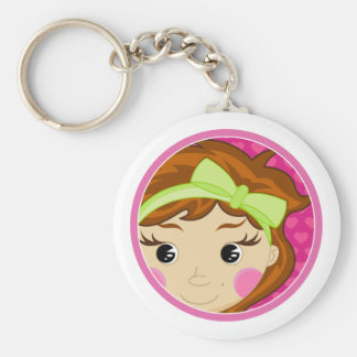 Cute Girl with Red Hair Keychain