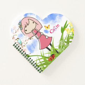 Cute Girlie Personalized Notebook
