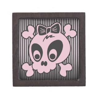 Cute Girlie Skull Keepsake Box