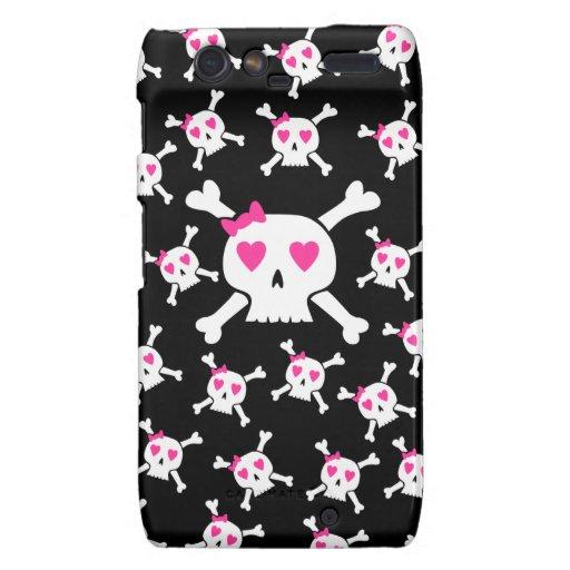 Cute Girlie Skull pattern Motorola Droid RAZR Cases