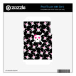 Cute Girlie Skull pattern Decal For iPod Touch 4G